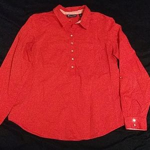 7th Avenue Red Medium Button Down Partial Used